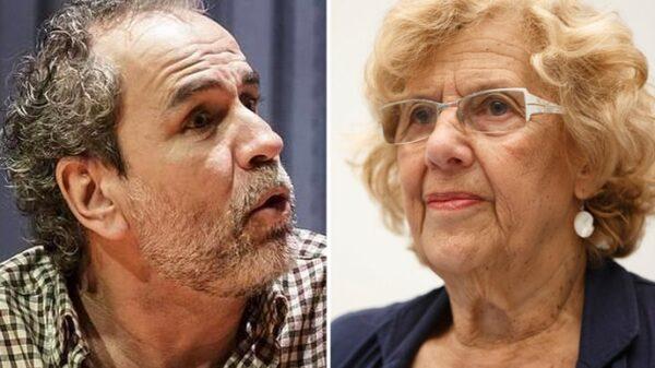Willy Toledo y Manuela Carmena