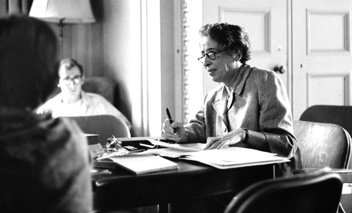 La pensadora judía Hannah Arendt