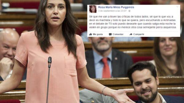 Inés Arrimadas y el comentario en Facebook de Rosa María Miras Puigpinós