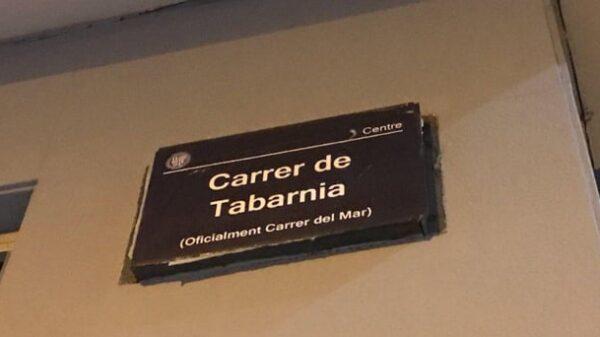 Calle de Tabarnia en Badalona