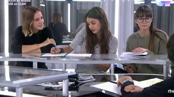 La compositora Brisa Fenoy con Ana Guerra y Aitana