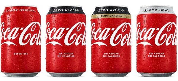 La nueva imagen de los envases de Coca-Cola