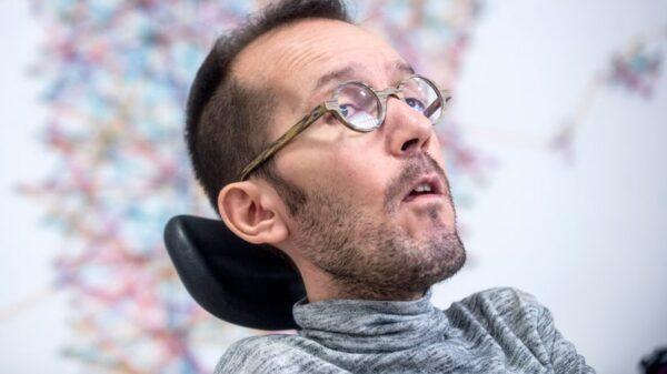 Pablo Echenique durante su comparecencia ante la prensa del pasado miércoles