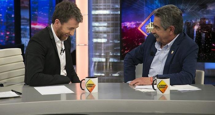 Miguel Ángel Revilla en 'El Hormiguero' con Pablo Motos