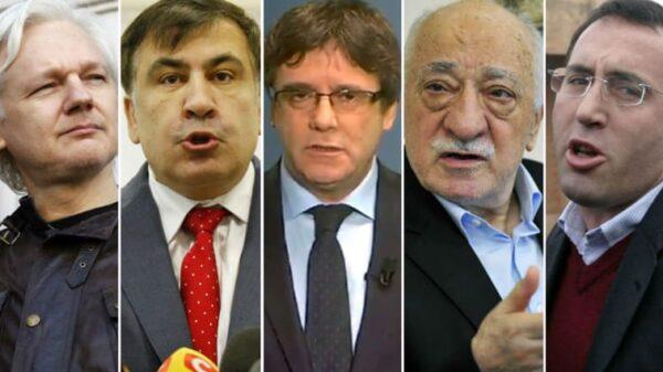 El australiano Julian Assange, el georgiano Mijaíl Saakashvili, el catalán Carles Puigdemont, el turco Fethulá Gulen y el kosovar Ramush Haradinaj
