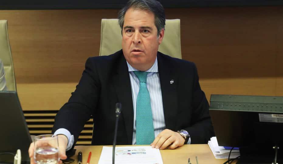 Gregorio Serrano durante su comparecencia en el Congreso
