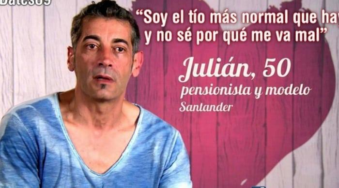 Julián, de 'Casados a primera vista', en 'First dates'
