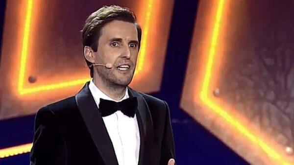 Julián López durante su monólogo en los premios Feroz