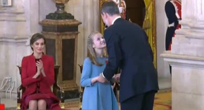 La princesa Leonor recibe el Toisón de Oro