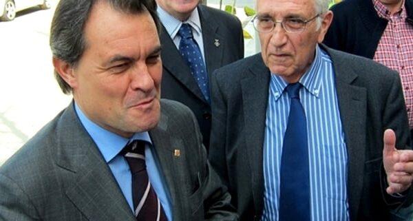 Artur Mas y el extesorero de CDC Daniel Osácar