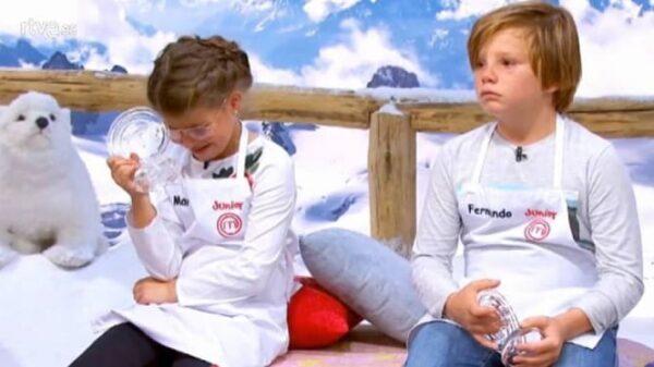 Mara y Fernando tras ser expulsados de 'Masterchef Junior 5'