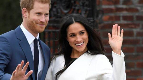 Meghan Markle con el príncipe Enrique