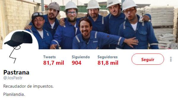 La cuenta de Twitter de Pastrana