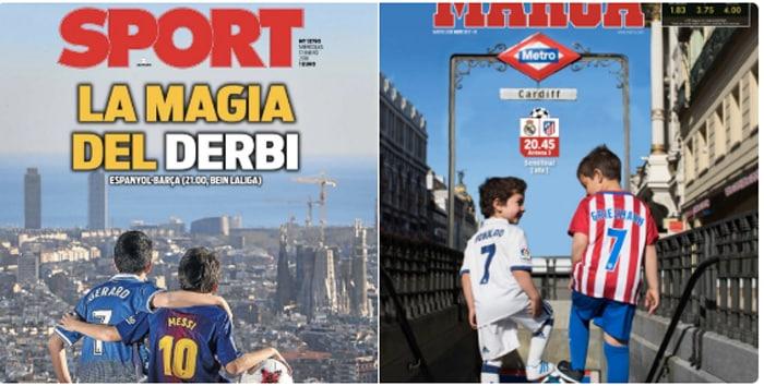 Las portadas de 'Sport' y 'Marca'