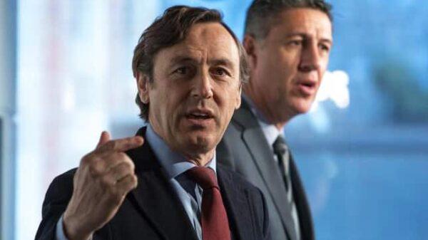 Rafael Hernando y Xavier García Albiol