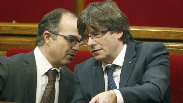 Carles Puigdemont y Jordi Turull