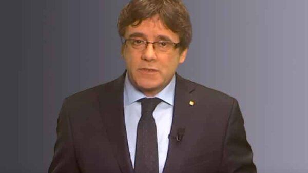 Carles Puigdemont en el vídeo