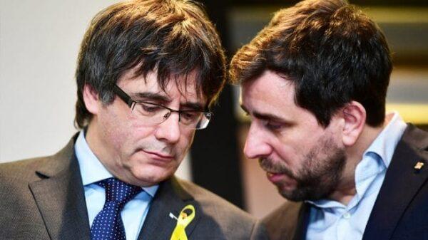Carles Puigdemont y Toni Comín en Bruselas