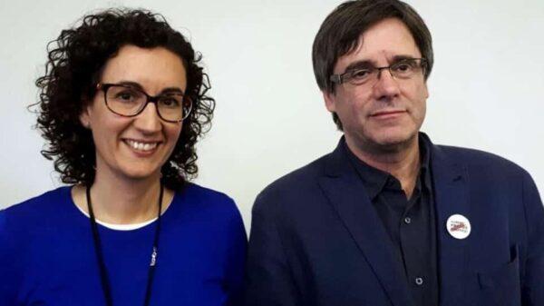Marta Rovira y Carles Puigdemont en un encuentro anterior en Bruselas