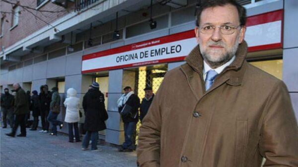 Rajoy en la cola del paro