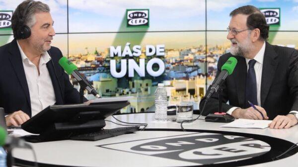 Mariano Rajoy durante la entrevista con Carlos Alsina en Onda Cero
