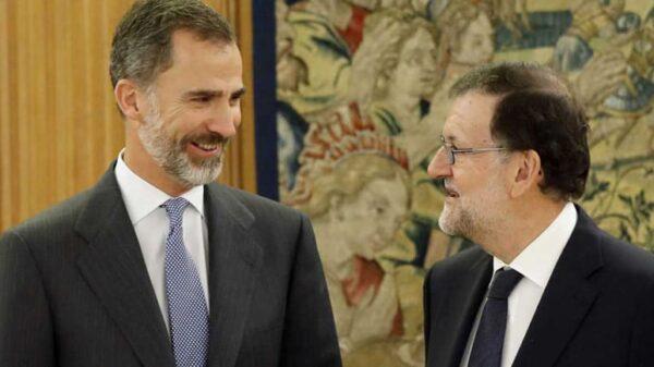 El Rey Felipe VI y Mariano Rajoy en el Palacio de la Zarzuela