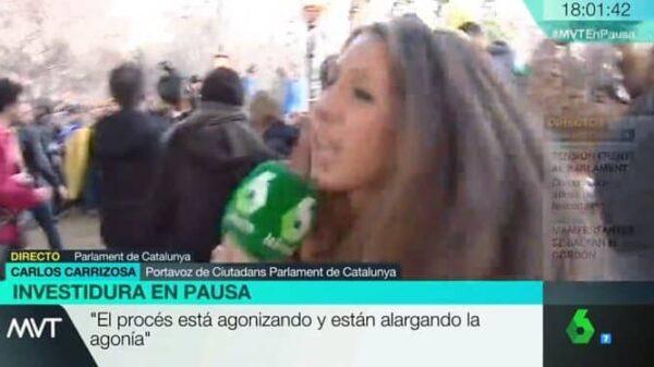 La reportera Dayana García