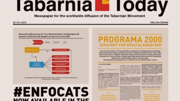 Portada del primer ejemplar de 'Tabarnia Today'