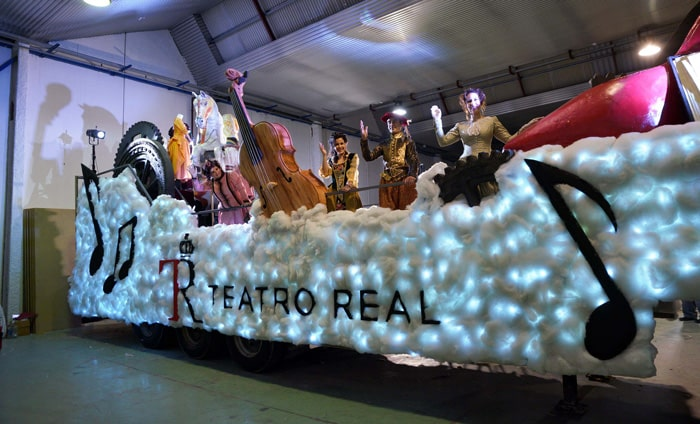 La carroza del Teatro Real para la cabalgata de Reyes