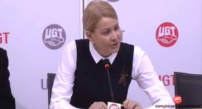 La secretaria de Políticas Sociales, Empleo y SSocial de UGT, Mari Carmen Barrera