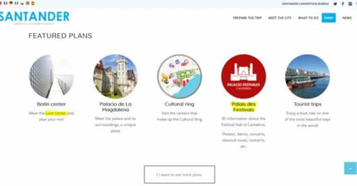 La web mal traducida de Santander