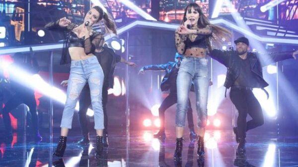 Ana Guerra y Aitana cantando 'Lo Malo'