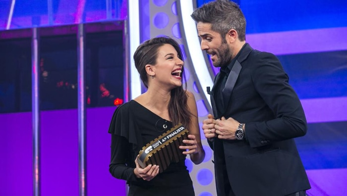Ana Guerra con Roberto Leal en 'OT'