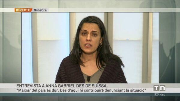Anna Gabriel en su entrevista en TV3