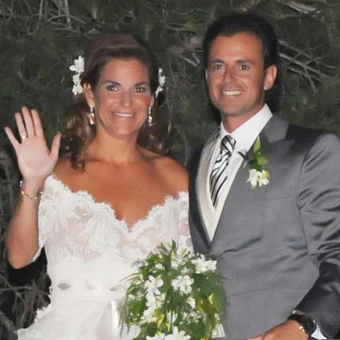 Arantxa Sánchez Vicario en su boda con Josep Santacana
