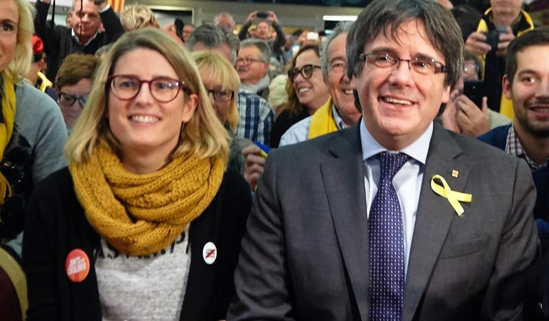 Elsa Artadi y Carles Puigdemont