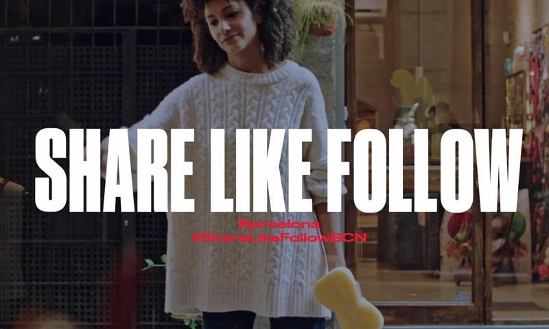 Imagen de la campaña 'Share Like Follow Barcelona'