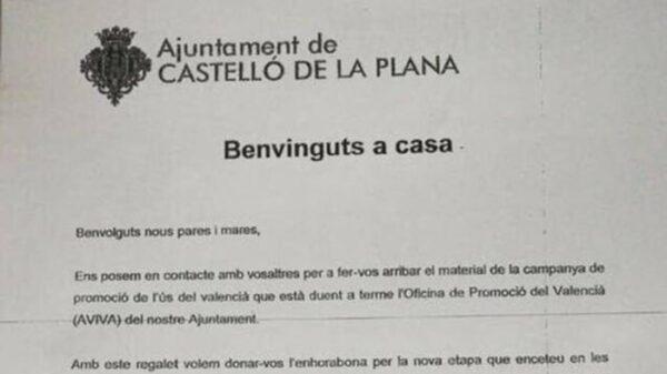 La carta del Ayuntamiento de Castellón