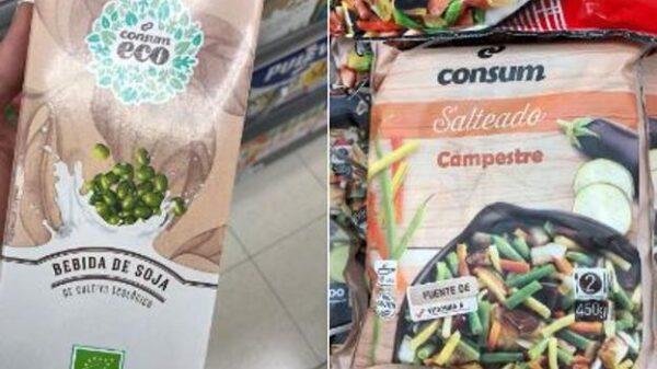 Imágenes del etiquetado en castellano de Consum