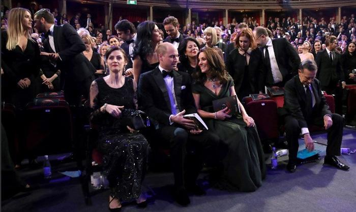 Kate Middleton junto a Guillermo de Inglaterra en los Bafta