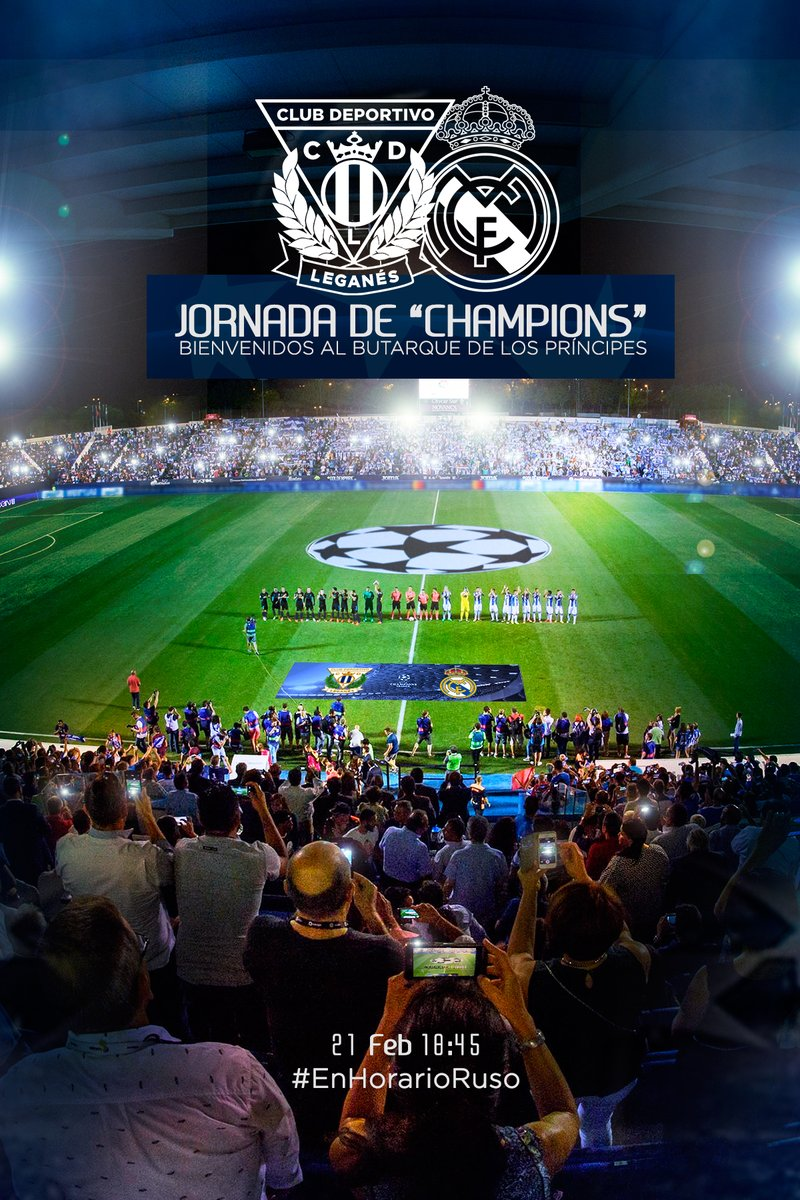 El cartel del Leganés para promocionar el partido contra el Real Madrid