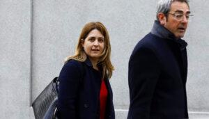 Marta Pascal a su llegada al Tribunal Supremo