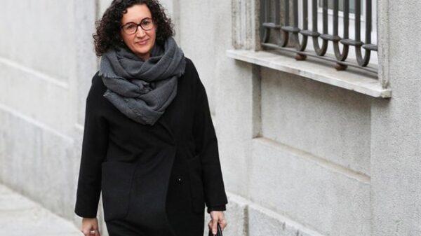Marta Rovira a su llegada al Tribunal Supremo