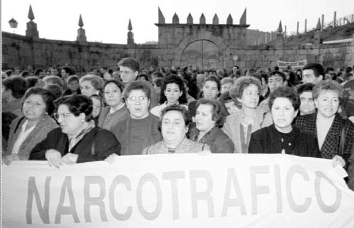 Manifestación contra el narcotráfico