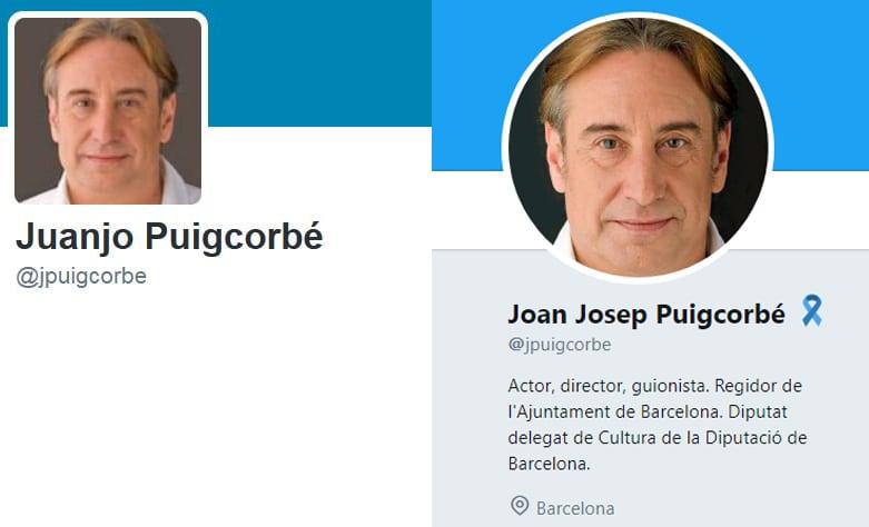 El cambio de nombre en el perfil de Twitter de Puigcorbé