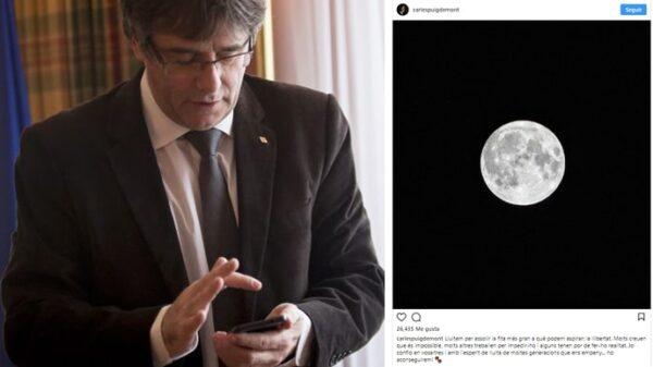 Carles Puigdemont y su publicación en Instagram