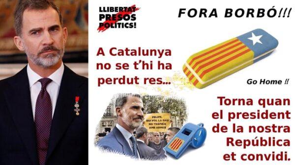 El Rey y el cartel que circula por las redes para boicotear su visita a Barcelona con motivo del MWC
