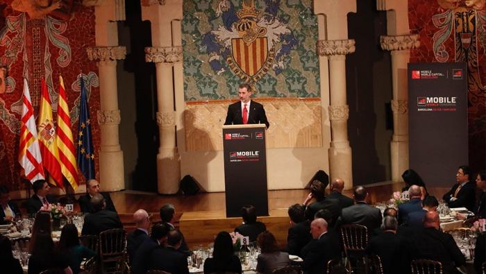El Rey Felipe durante su discurso