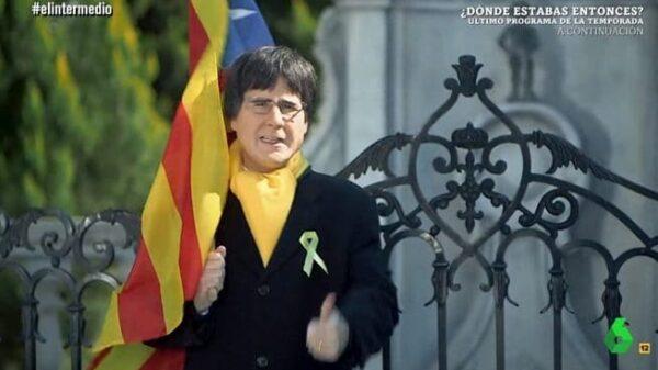 Joaquín Reyes convertido en Carles Puigdemont