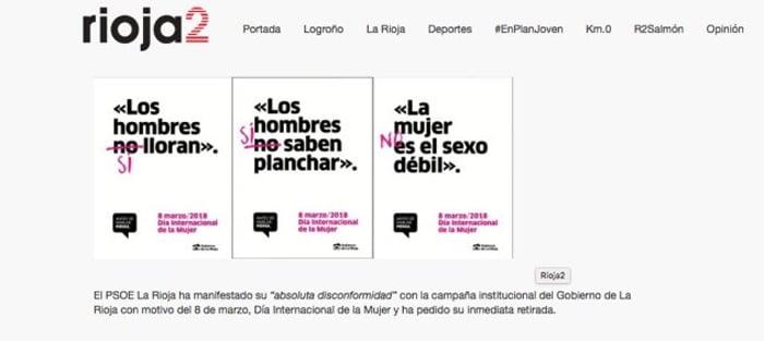 Otros carteles de la campaña del Día de la Mujer